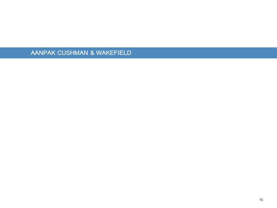 15 AANPAK CUSHMAN & WAKEFIELD