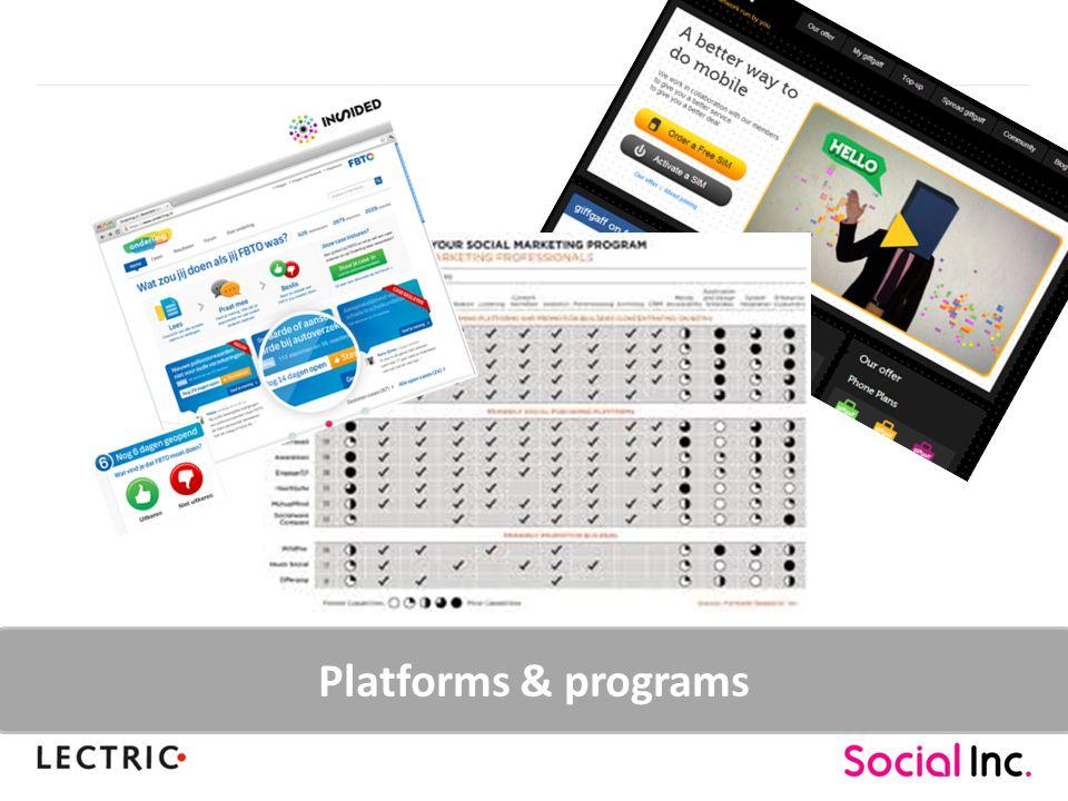 Platforms & programs