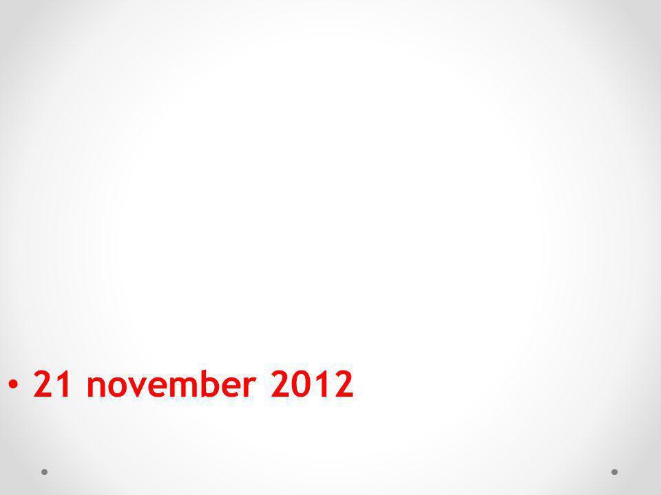 21 november 2012