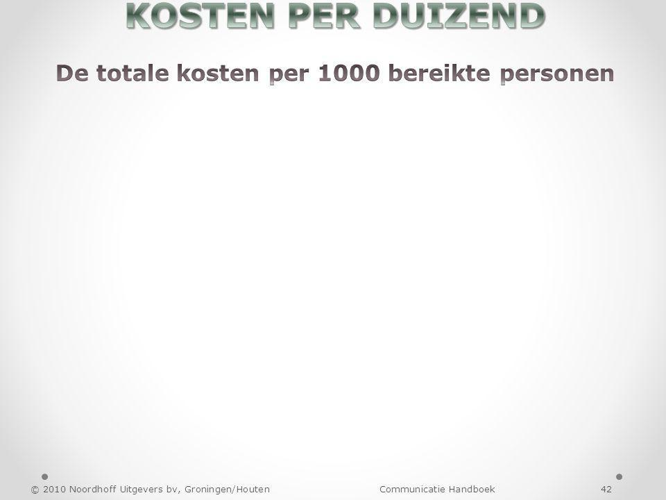 © 2010 Noordhoff Uitgevers bv, Groningen/Houten Communicatie Handboek 42