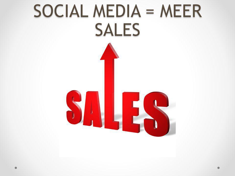 SOCIAL MEDIA = MEER SALES