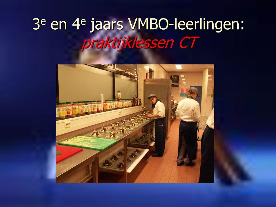 3 e en 4 e jaars VMBO-leerlingen: praktijklessen CT