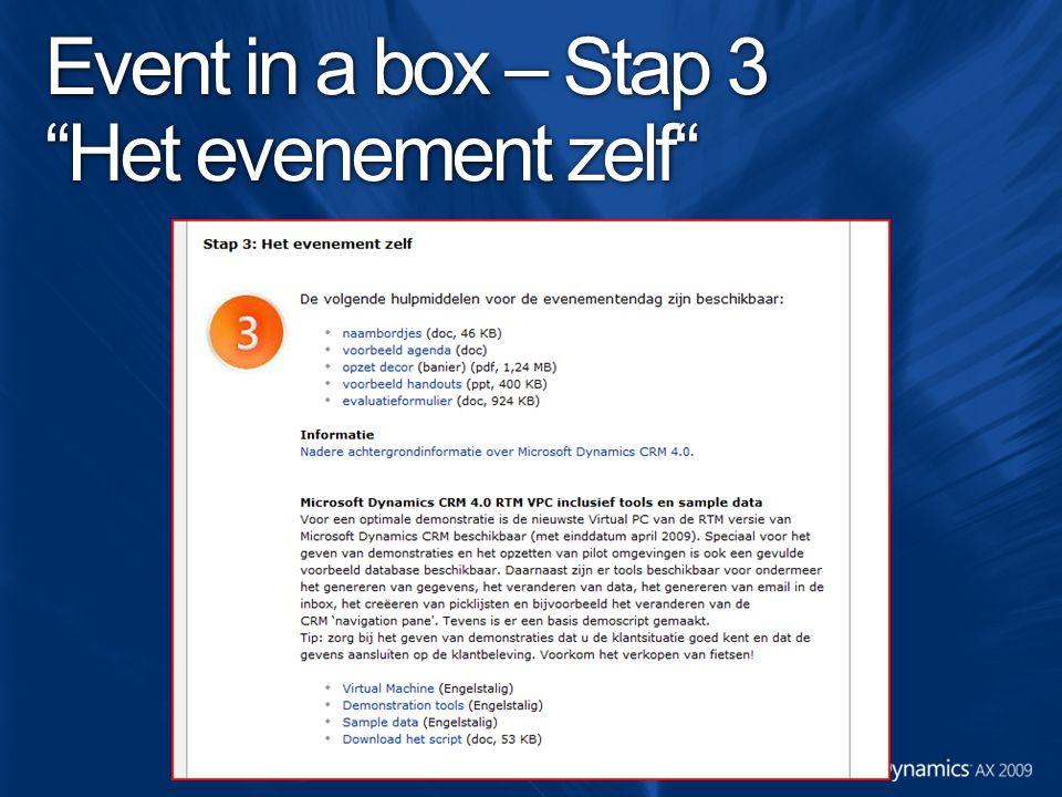 """Event in a box – Stap 3 """"Het evenement zelf"""""""