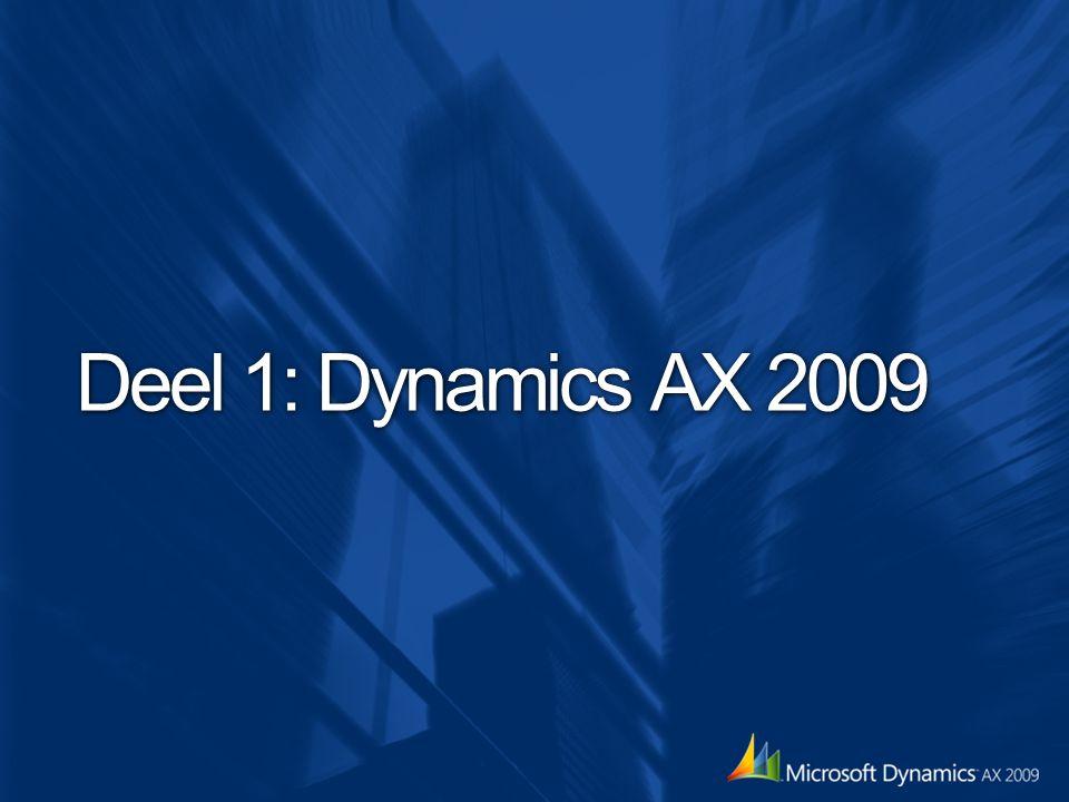 Om in de stemming te komen Dynamics AX 2009
