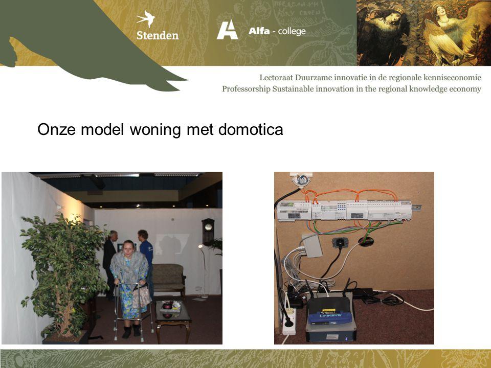 Onze model woning met domotica