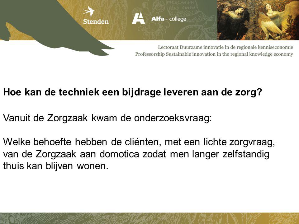 Conclusie: Veel onbekendheid bij de doelgroep Geen behoefte aan techniek…..