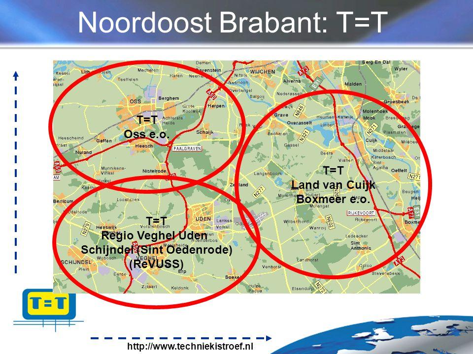 http://www.techniekistroef.nl Noordoost Brabant: T=T T=T Regio Veghel Uden Schijndel (Sint Oedenrode) (ReVUSS) T=T Oss e.o.