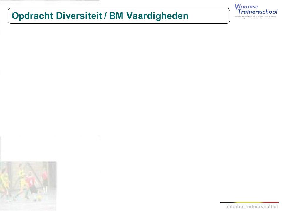 Initiator Indoorvoetbal Opdracht Diversiteit / BM Vaardigheden