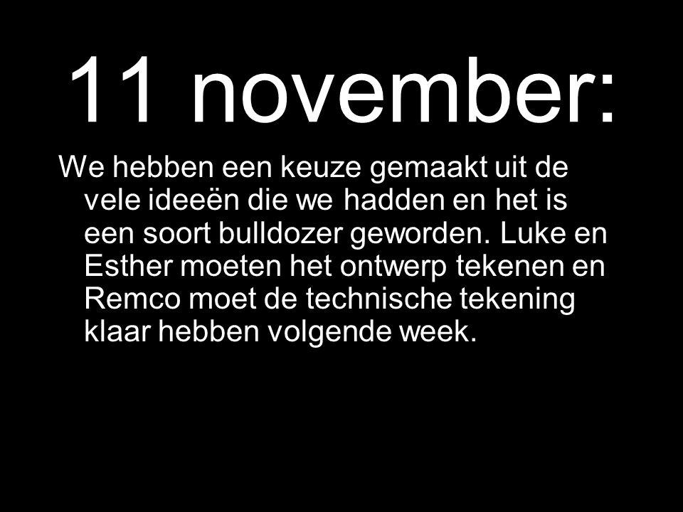 4 november: uitval