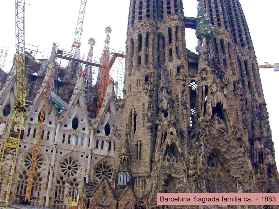 Barcelona Sagrada familia ca. + 1883