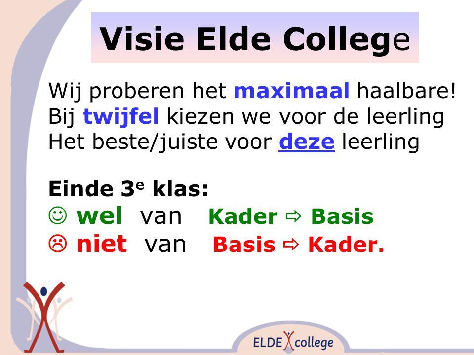 Visie Elde College Wij proberen het maximaal haalbare.
