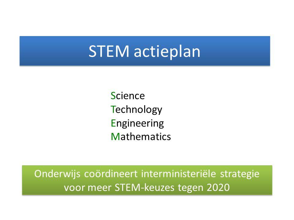 STEM actieplan Science Technology Engineering Mathematics Onderwijs coördineert interministeriële strategie voor meer STEM-keuzes tegen 2020
