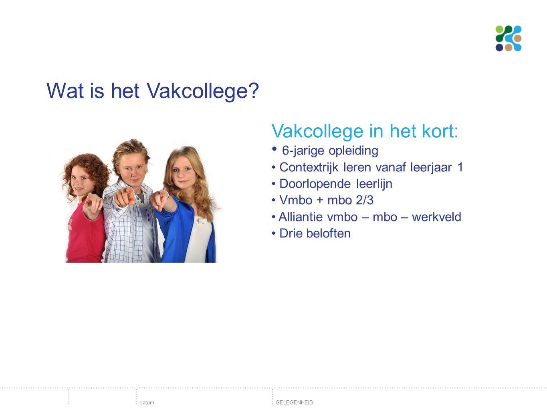 Wat is het Vakcollege.