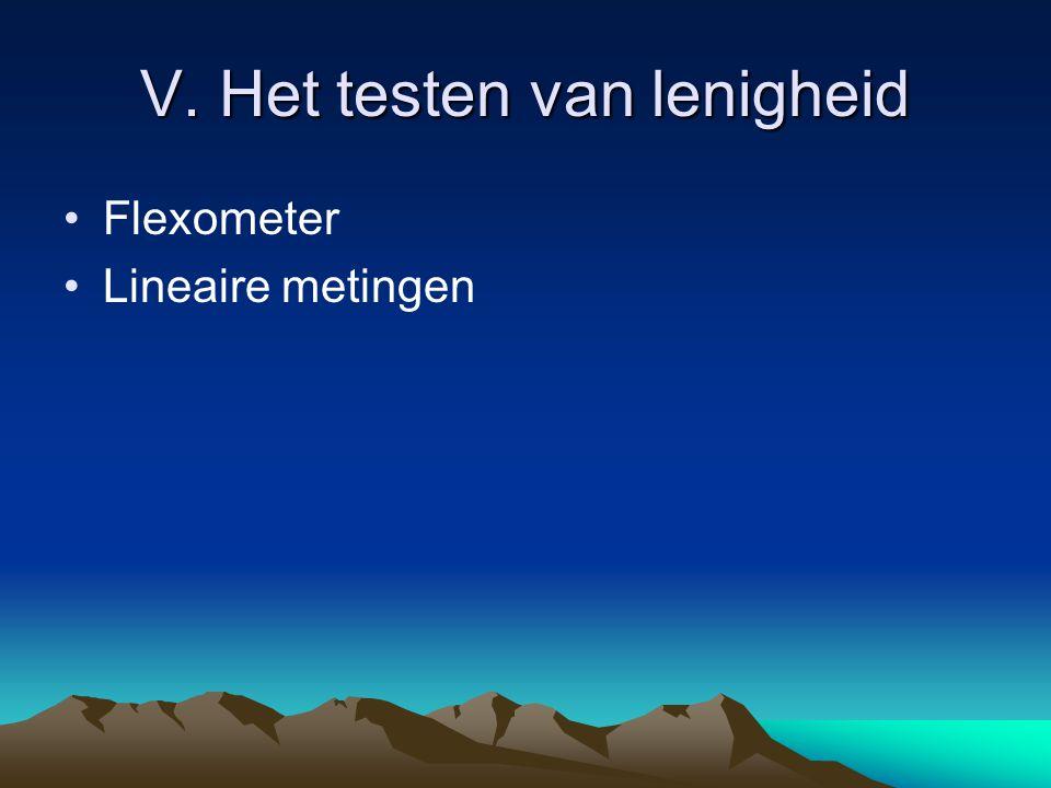 V. Het testen van lenigheid Flexometer Lineaire metingen