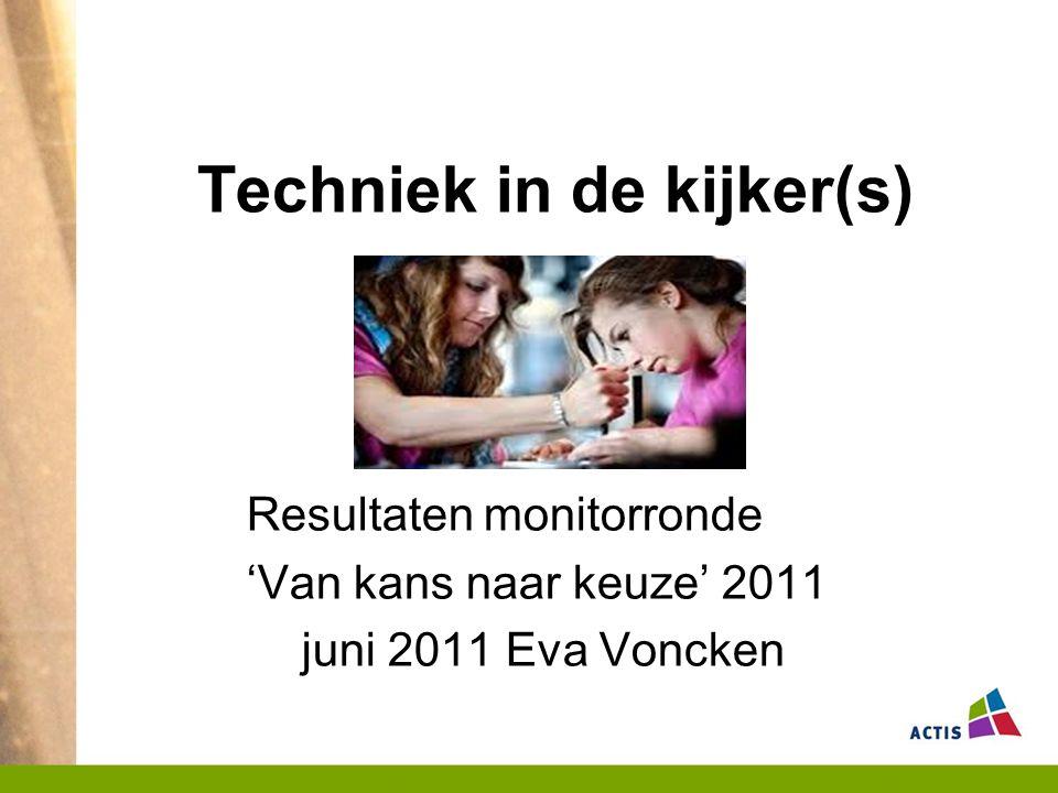 Techniek in de kijker(s) Resultaten monitorronde 'Van kans naar keuze' 2011 juni 2011 Eva Voncken