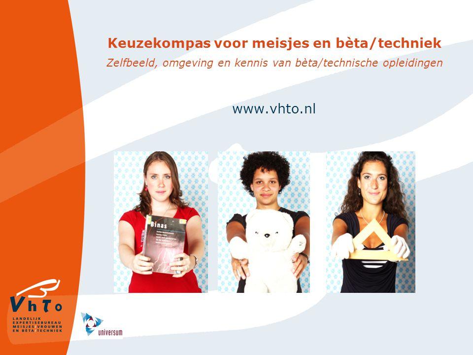 Keuzekompas voor meisjes en bèta/techniek Zelfbeeld, omgeving en kennis van bèta/technische opleidingen www.vhto.nl