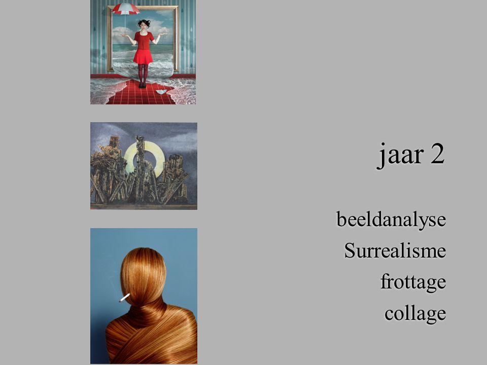 jaar 2 beeldanalyse Surrealisme frottage collage beeldanalyse Surrealisme frottage collage