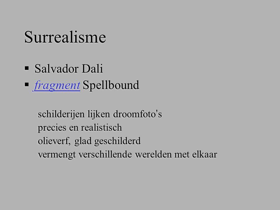 Surrealisme  Salvador Dali  fragment Spellbound fragment schilderijen lijken droomfoto's precies en realistisch olieverf, glad geschilderd vermengt