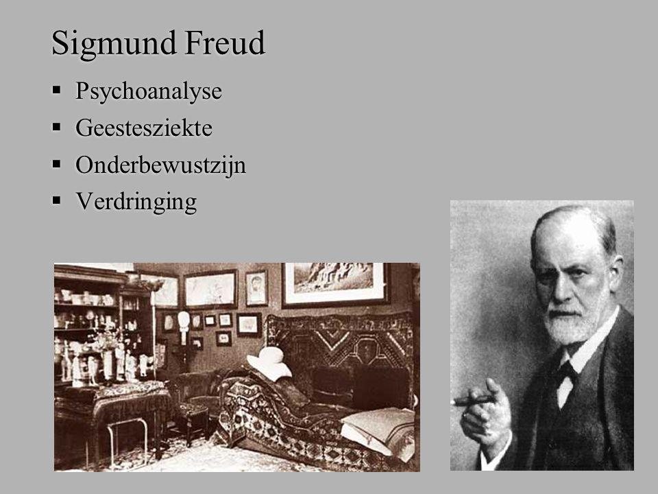 Sigmund Freud  Psychoanalyse  Geestesziekte  Onderbewustzijn  Verdringing  Psychoanalyse  Geestesziekte  Onderbewustzijn  Verdringing