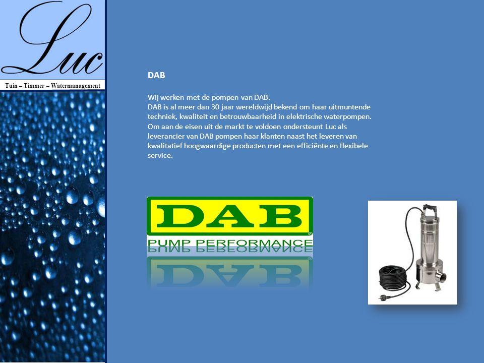 Wij werken met de pompen van DAB.