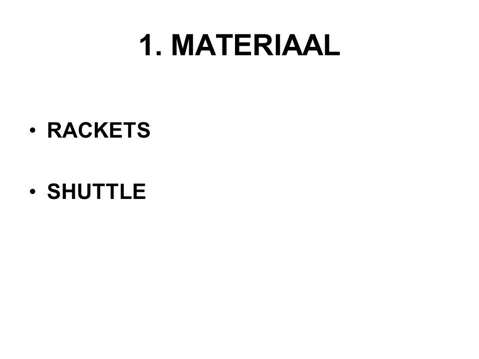 1. MATERIAAL RACKETS SHUTTLE