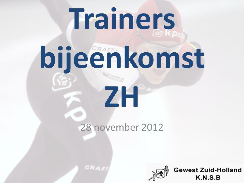 Trainers bijeenkomst ZH 28 november 2012