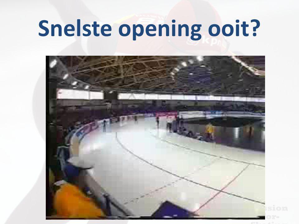 Snelste opening ooit?
