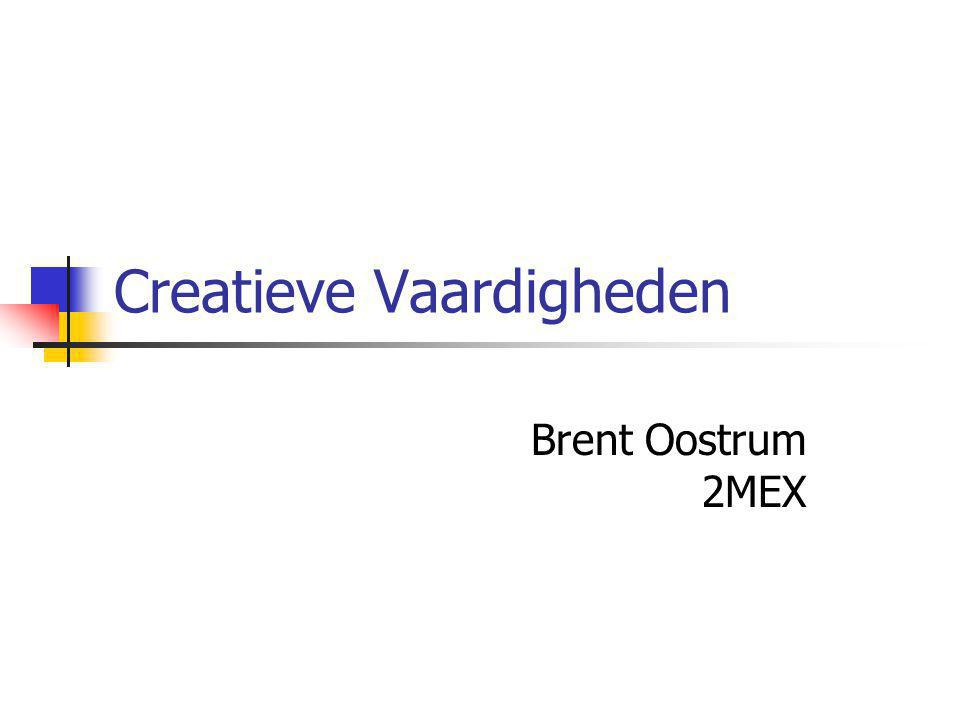 Creatieve Vaardigheden Brent Oostrum 2MEX