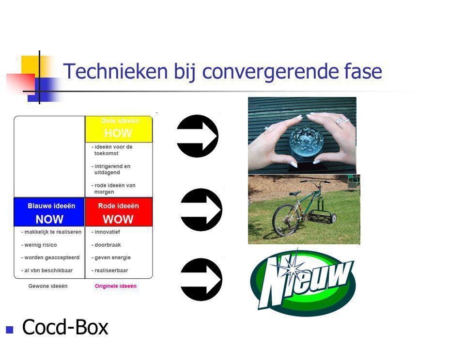 Technieken bij convergerende fase Cocd-Box