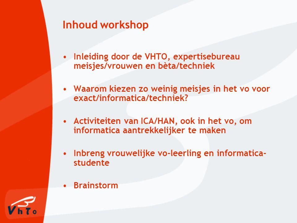 Cijfers situatie in NL Weinig vrouwelijke ICT'ers werkzaam in ICT-sector: ca.