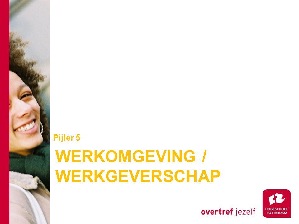 WERKOMGEVING / WERKGEVERSCHAP Pijler 5