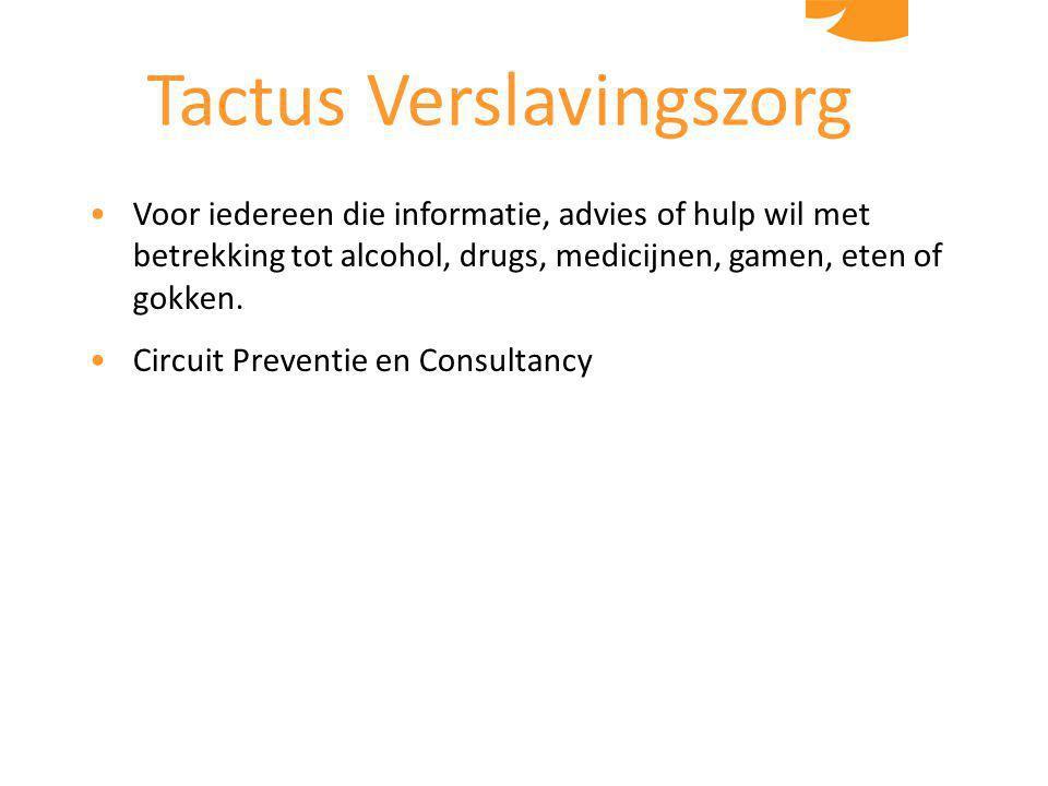 Voor iedereen die informatie, advies of hulp wil met betrekking tot alcohol, drugs, medicijnen, gamen, eten of gokken.