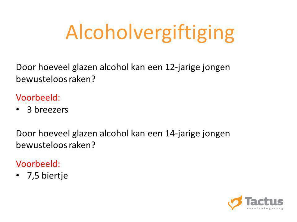 Door hoeveel glazen alcohol kan een 12-jarige jongen bewusteloos raken.