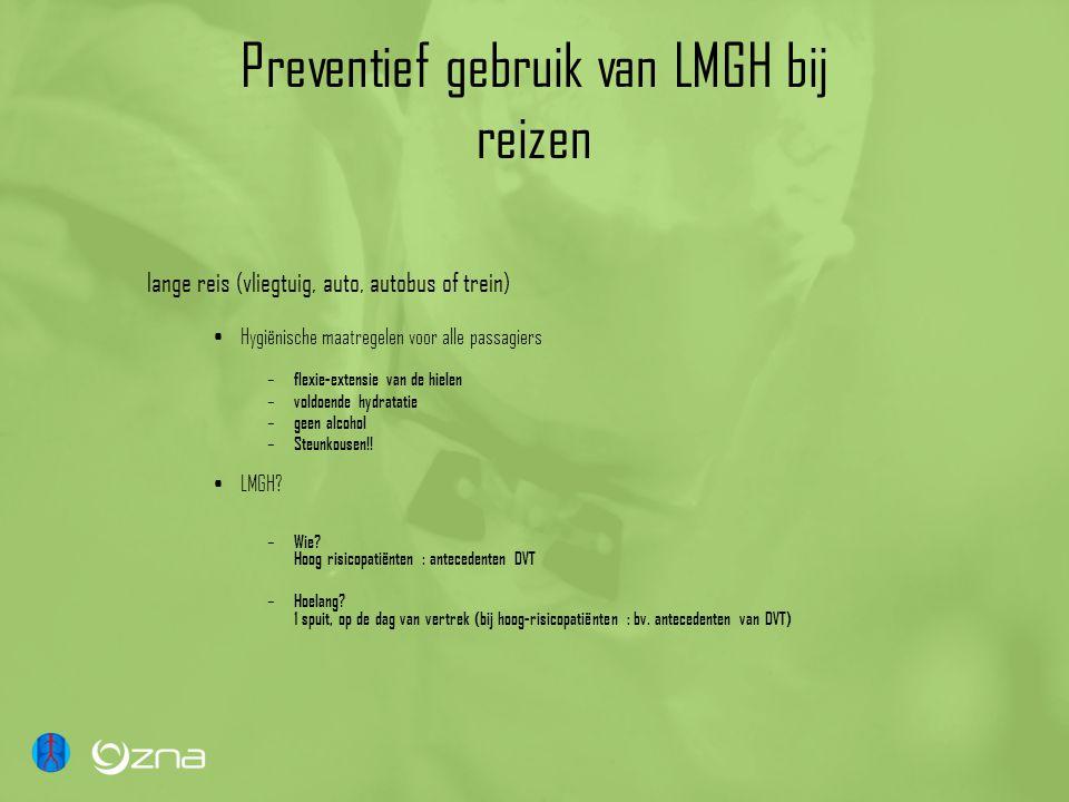 Preventief gebruik van LMGH bij reizen lange reis (vliegtuig, auto, autobus of trein) Hygiënische maatregelen voor alle passagiers – flexie-extensie v
