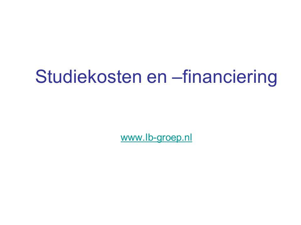 Studiekosten en –financiering www.Ib-groep.nl www.Ib-groep.nl