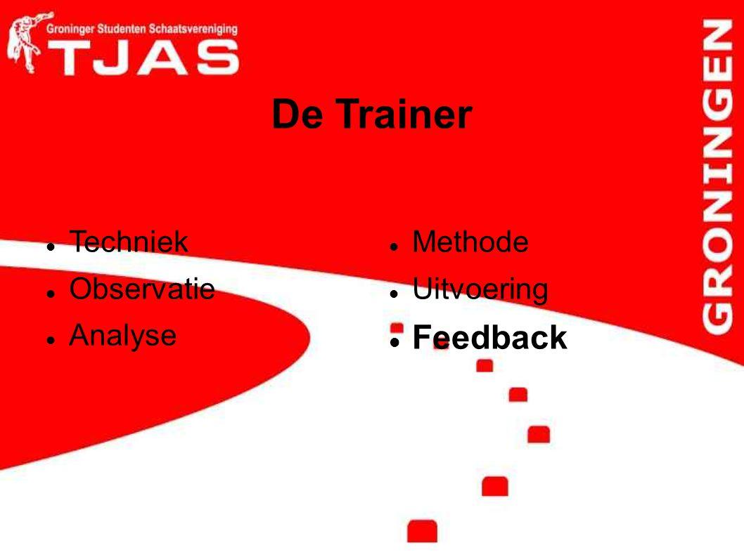 De Trainer Techniek Observatie Analyse Methode Uitvoering Feedback
