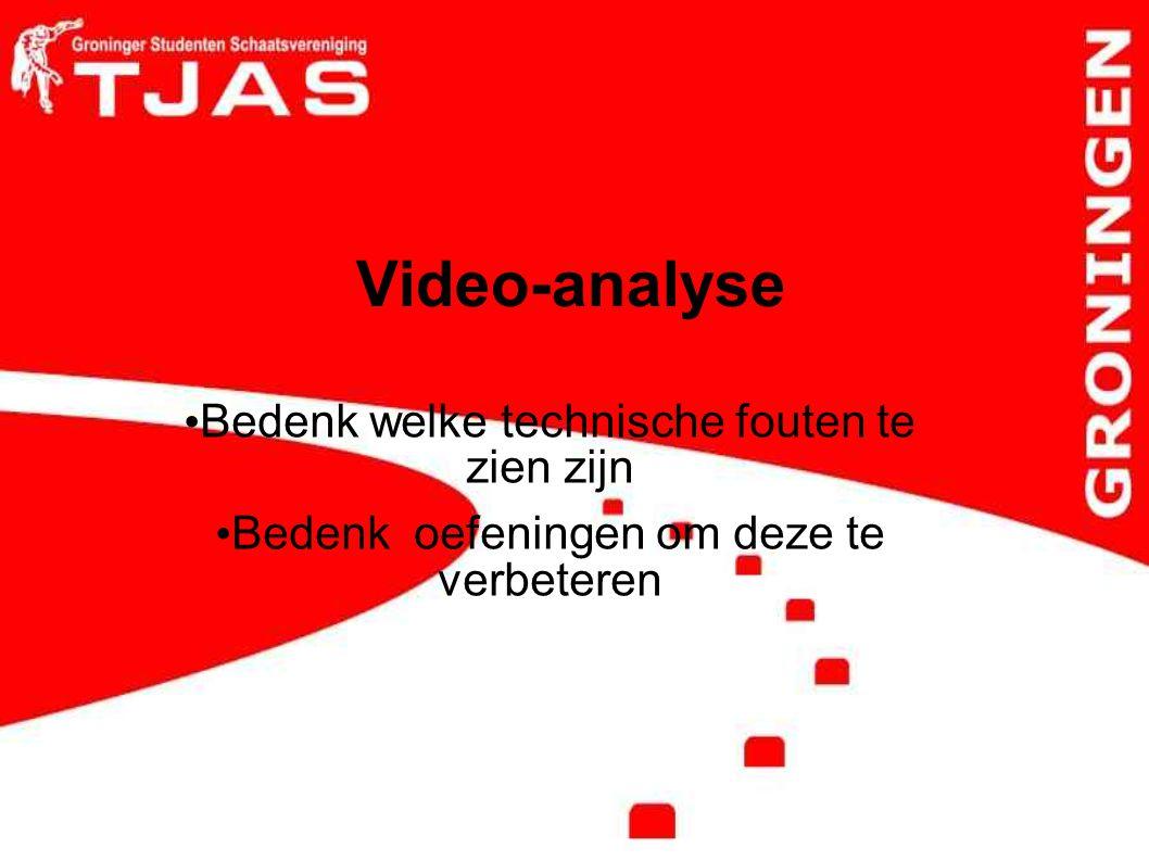Video-analyse Bedenk welke technische fouten te zien zijn Bedenk oefeningen om deze te verbeteren