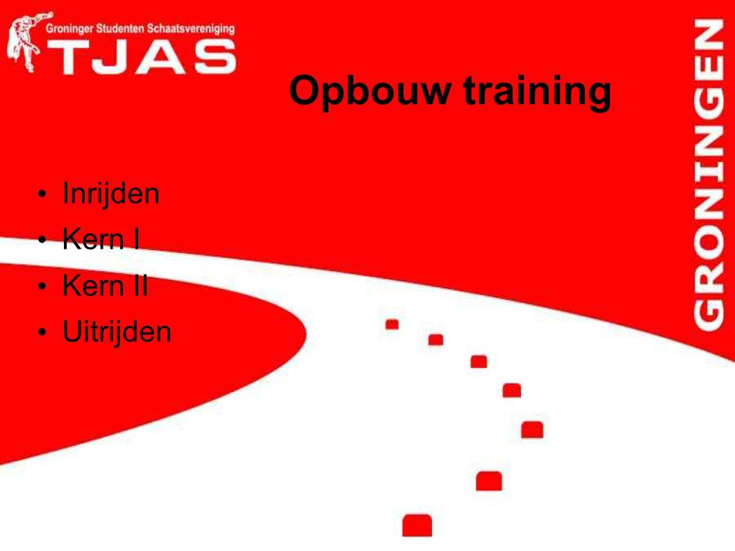Opbouw training Inrijden Kern I Kern II Uitrijden