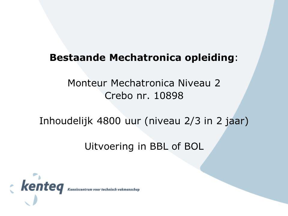 Bestaande Mechatronica opleiding: Monteur Mechatronica Niveau 2 Crebo nr.