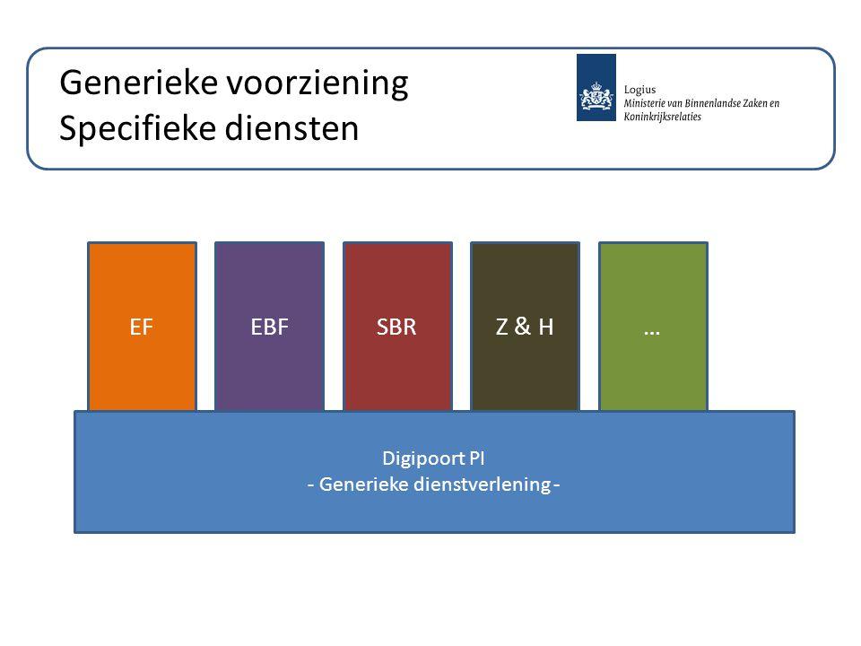 Generieke voorziening Specifieke diensten Digipoort PI - Generieke dienstverlening - EFEBFSBRZ & H…