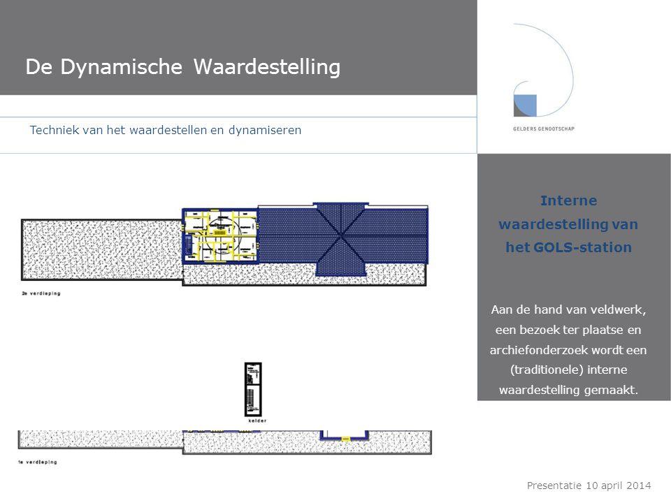 De Dynamische Waardestelling Interne waardestelling van het GOLS-station Aan de hand van veldwerk, een bezoek ter plaatse en archiefonderzoek wordt ee