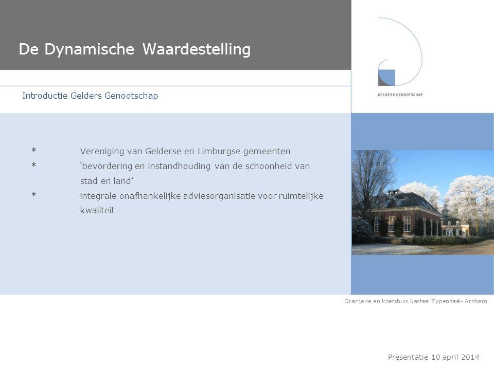 *Vereniging van Gelderse en Limburgse gemeenten *'bevordering en instandhouding van de schoonheid van stad en land' *integrale onafhankelijke adviesor
