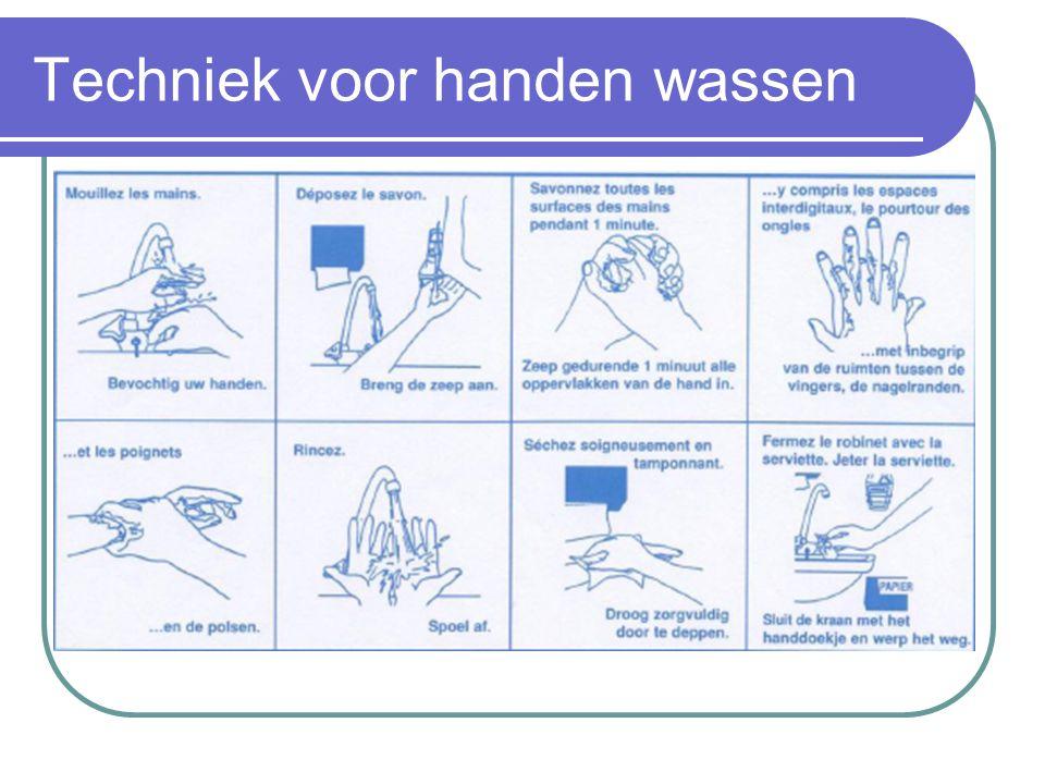 Techniek voor handen wassen