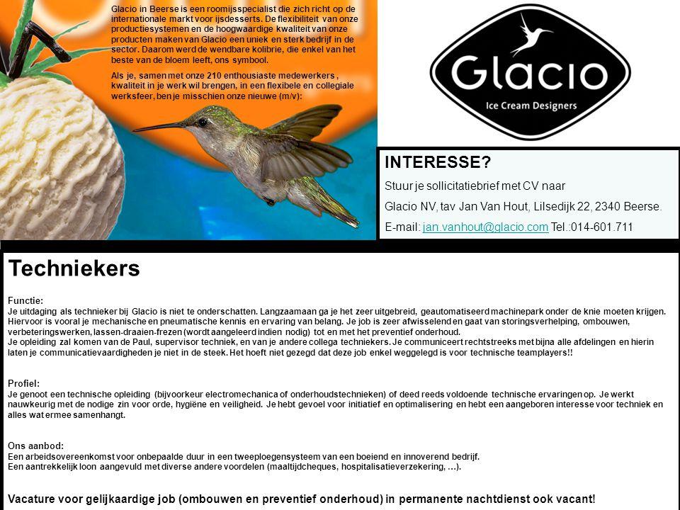 Glacio in Beerse is een roomijsspecialist die zich richt op de internationale markt voor ijsdesserts.