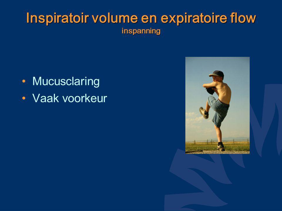 Inspiratoir volume en expiratoire flow inspanning Mucusclaring Vaak voorkeur