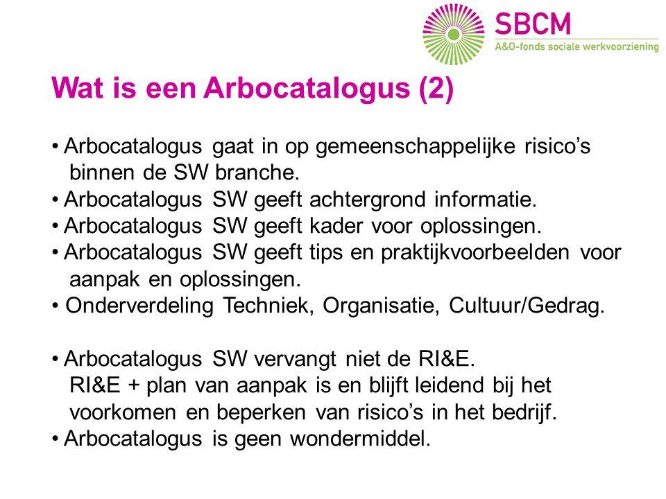 Wat is een Arbocatalogus (2) Arbocatalogus gaat in op gemeenschappelijke risico's binnen de SW branche. Arbocatalogus SW geeft achtergrond informatie.