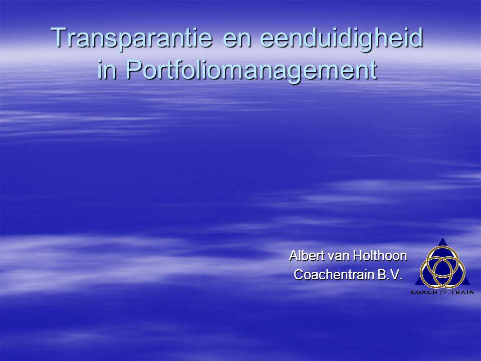 Definitie volgens de Vandale Portfolio is het geheel van activiteiten van een onderneming.