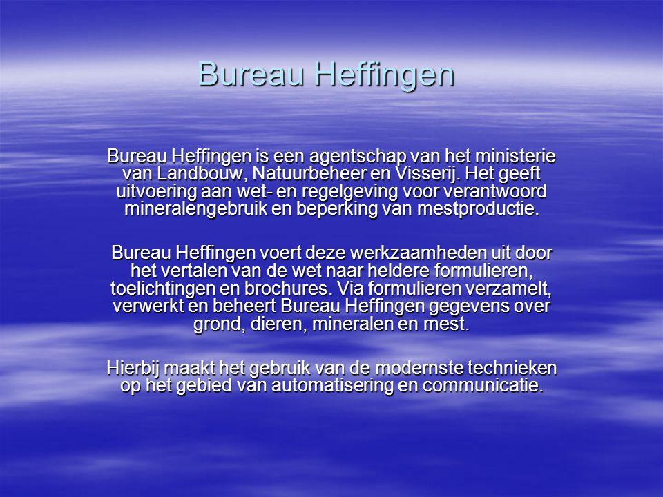 Bureau Heffingen Bureau Heffingen is een agentschap van het ministerie van Landbouw, Natuurbeheer en Visserij.