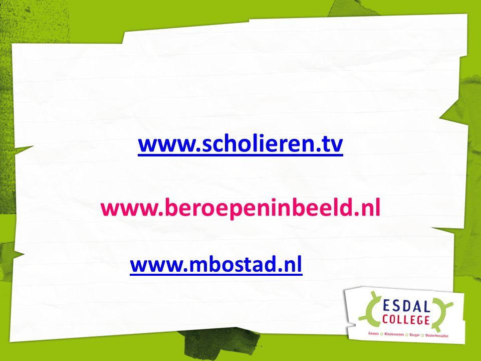 www.scholieren.tv www.scholieren.tv www.beroepeninbeeld.nl www.mbostad.nl