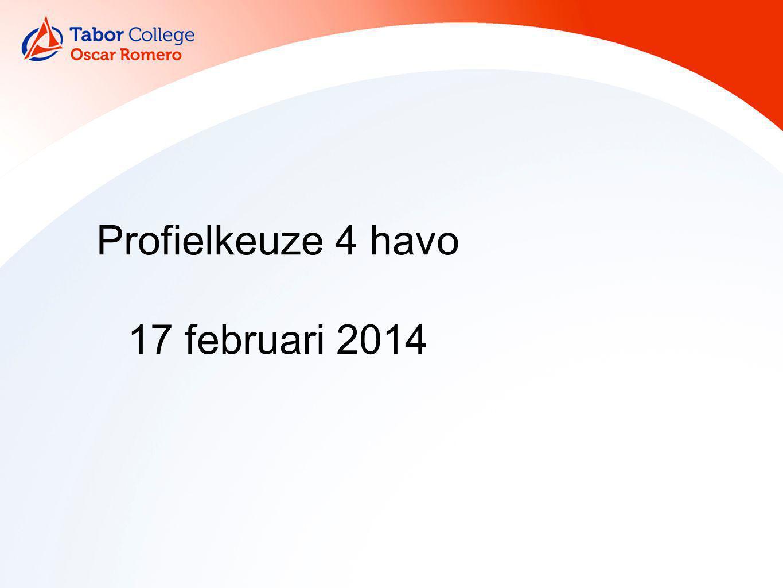 Profielkeuze 4 havo 17 februari 2014